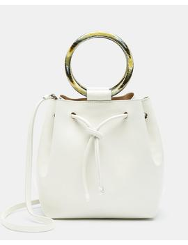 Small Drawstring Bag With Wax Cord Hoop In Soft Leather by Theory