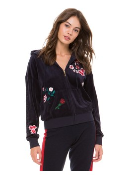 Velour Floral Couture Sunset Jacket by Juicy Couture