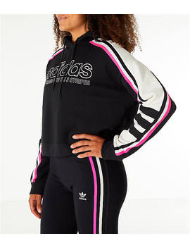 Women's Adidas Originals Racing Crop Hoodie by Adidas