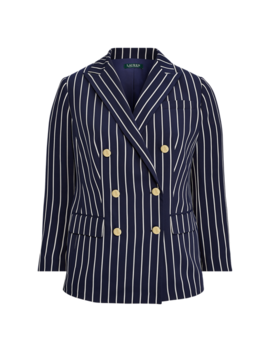 Striped Satin Blazer by Ralph Lauren