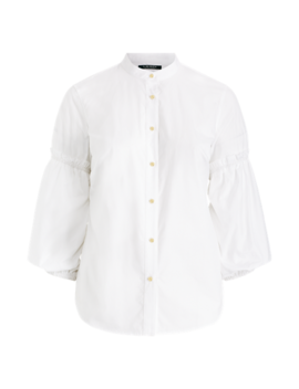 Broadcloth Bishop Sleeve Shirt by Ralph Lauren