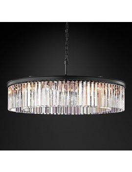 "Rhys Clear Glass Prism Round Chandelier 43"" by Restoration Hardware"
