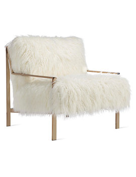 Axel Fur Accent Chair   Champagne by Z Gallerie