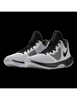Nike Women's Air Precision Ii Basketball Shoes   White/Black by Sport Chek