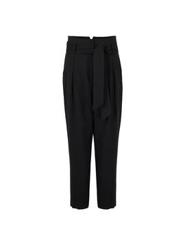 Real High Waist Black Peg Trousers by Olivar Bonas