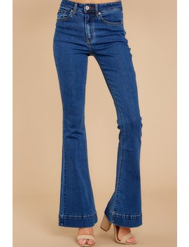 On Your Level Dark Wash Flare Jeans by Kan Can Premier
