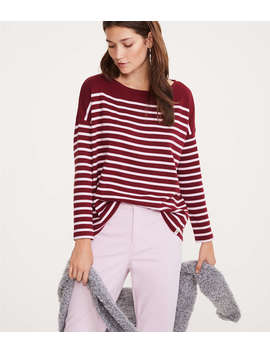 Lou &Amp; Grey Striped Boatneck Tee by Lou & Grey
