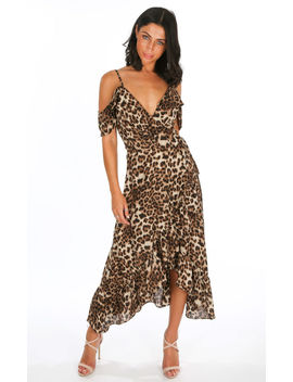 leopard-print-frill-wrap-midi-dress by dressed-in-lucy