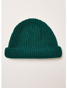 Teal Ribbed Docker Beanie by Topman