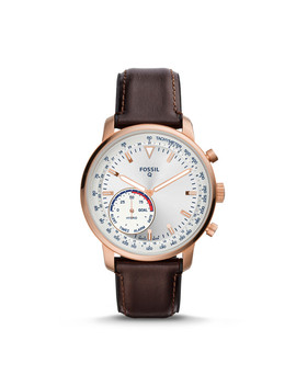 Hybrid Smartwatch   Q Goodwin Brown Leather by Fossil