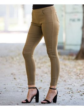 Brown Front Seam Moto Jeggings   Women &Amp; Plus by Zulily