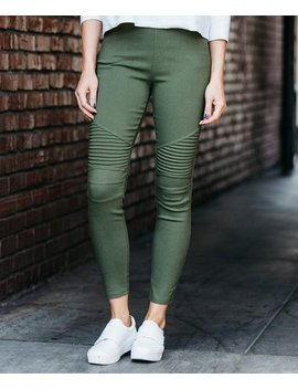Olive Moto Pocket Jeggings   Women &Amp; Plus by Zulily