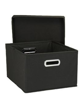 Household Essentials® Collapsible Storage Boxes In Black (Set Of 2) by Bed Bath & Beyond