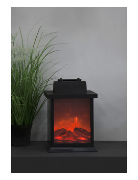 Black Fireplace Battery Lantern by 51 Dna                                      Sold Out