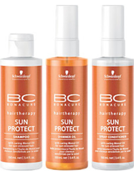 Sun Protect Travel Kit Sensitive Zones Stick Spf50+Refreshing After Sun Lotion For Face And Body Mask Protective Radiance Conditioner Anti Shine Invisible Fresh Mist Spray Spf50+ by Escentual