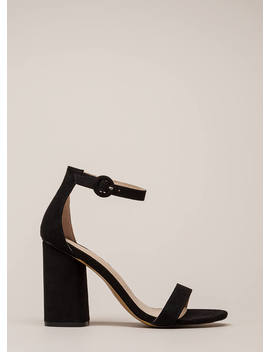 One Fine Day Chunky Ankle Strap Heels by Go Jane
