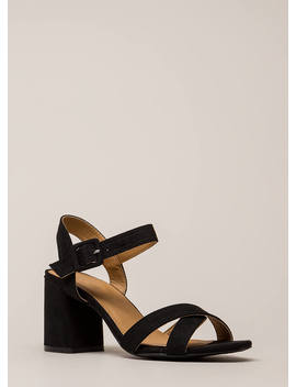 Capsule Collection Strappy Block Heels by Go Jane