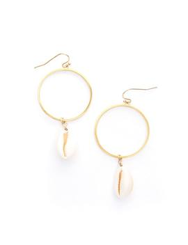 Cowrie Shell Hoop Earrings by Glassons