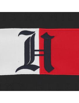 Lewis Hamilton Flag Logo Hooded Sweatshirt Jet Black by Tommy Hilfiger