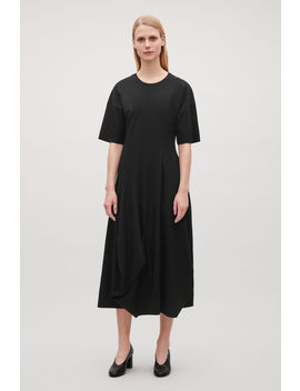 Irregular Panelled Waisted Dress by Cos