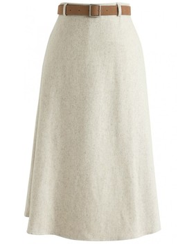 Outstanding Position A Line Skirt In Sand by Chicwish