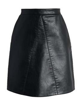 Fetching Faux Leather Skirt In Black by Chicwish