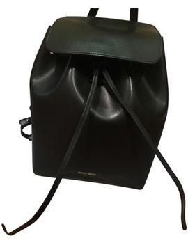 Mini Black Lambskin Leather Backpack by Mansur Gavriel
