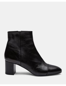Leather Almond Toe Bootie by Theory