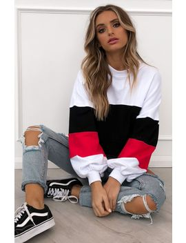 Money Moves Sweater White/Red by White Fox