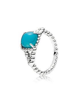 Vibrant Spirit Ring, Scuba Blue Crystal Sterling Silver, Blue, Crystal by Pandora
