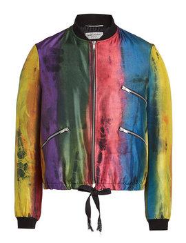 Silk Bomber Jacket by Saint Laurent