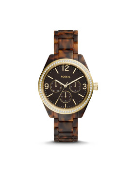Caleigh Multifunction Tortoise Acetate Watch by Fossil