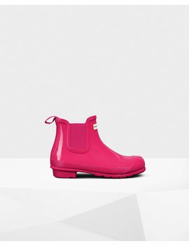 "<Span Itemprop=""Name"">Women's Original Gloss Chelsea Boots</Span>:                     <Span>Bright Pink</Span> by Hunter"