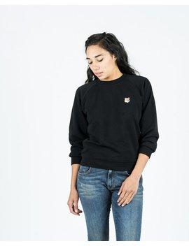 Maison Kitsune Fox Head Patch Sweatshirt   Black by Garmentory