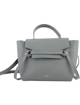 Belt Micro Grey Leather Cross Body Bag by Céline