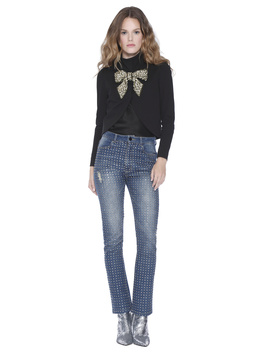 Addison Embellished Bow Crop Jacket by Alice And Olivia