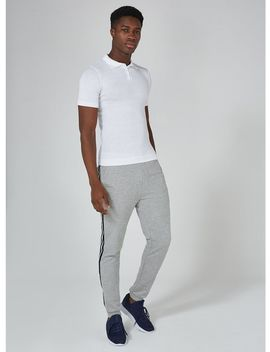 White Muscle Knitted Polo by Topman