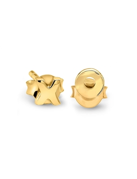 Gold X And O Stud Pair by Missoma