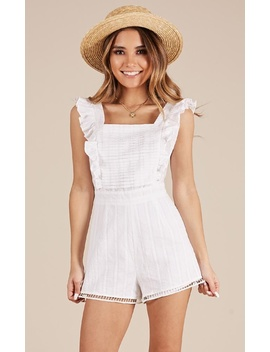 Going Steady Playsuit In White Lace by Showpo Fashion