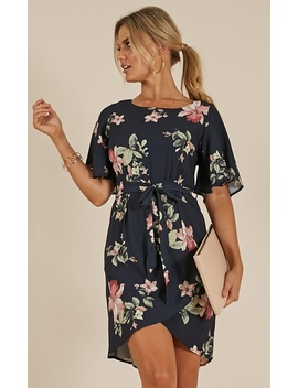 Only On Camera Dress In Navy Floral by Showpo Fashion