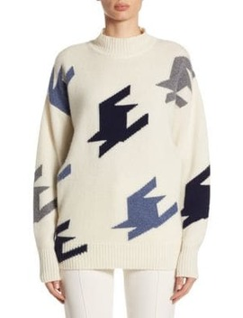 Cashmere Houndstooth Sweater by Victoria Beckham