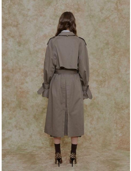 A Oversize Trench Coat Khaki by Among