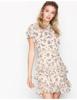 Floral Flounce Dress by Glamorous