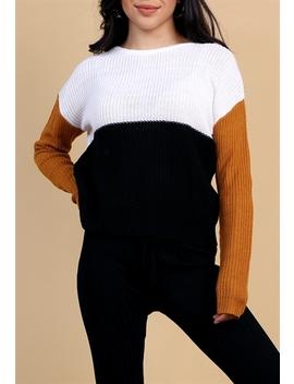 Colorblock Sweater by Papaya