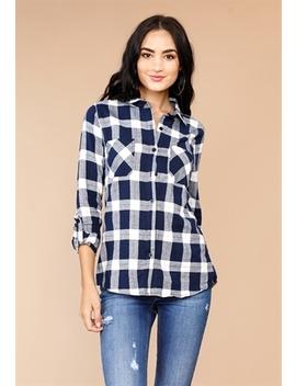 Plaid Long Sleeve Shirts by Papaya