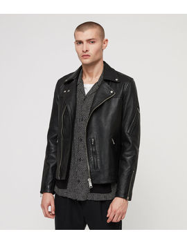 Uni Leather Biker Jacket by Allsaints