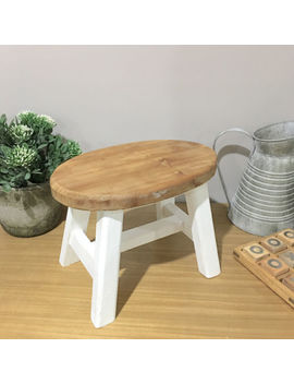 Mini Oval Timber Stool/Footrest<Wbr>/Wooden Step Stool/Bathroom Stool/Kids Stool by Humble Home