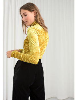 Stretch Velour Turtleneck by & Other Stories