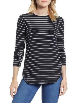 Stripe Signaturesoft Shirttail Top by Lou & Grey