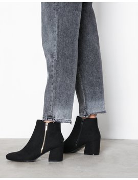 Suedette Flared Heel Ankle Boots by New Look